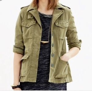 Madewell Outbound Olive Army Green Utility Jacket